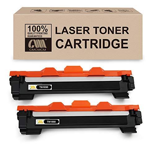 CMCMCM 2PK Kompatible Toner für Brother TN1050 TN-1050 für Brother HL-1110 DCP-1510 HL-1210W DCP-1610W HL-1112 MFC-1810 HL-1212W MFC-1910W DCP-1612W DCP-1512 Drucker