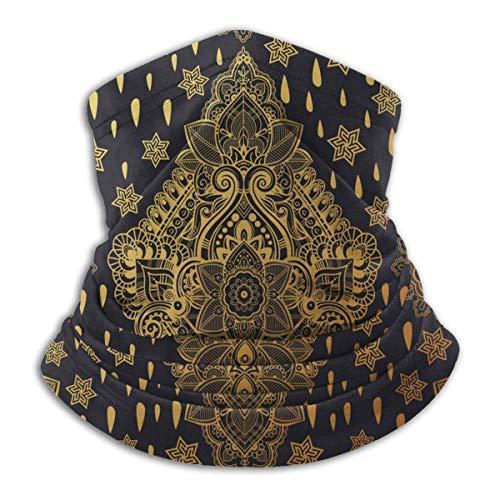Paisley Henna Tattoo Ethnic Tribal Vintage Design Unisex Mikrofaser Nackenwärmer Kopfbedeckung Gesichtsschal Maske für Winter Kaltes Wetter Maske Bandana Sturmhaube
