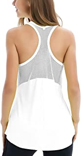 Women's Sleeveless Yoga Shirts Workout Tank Tops Actives Breathable Mesh Backless Tank Yoga Tops