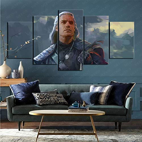 CELLYONE Art prints on canvas wall beautification TV program The Witcher Applicable to restaurants and hotels 100x50cm frameless