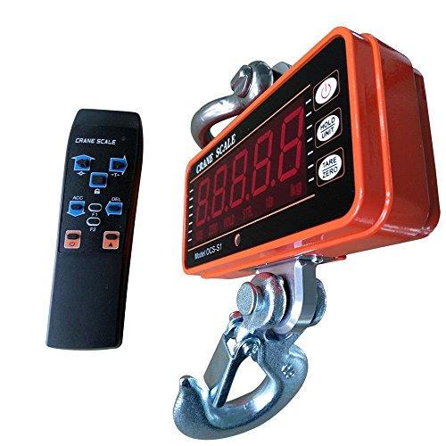 Escala de Pesaje de Escala Electr/ónica Digital Port/átil LCD Digital con Gancho para Granja Pez Grande Caza 660Lb 300Kg Mini Escala Colgante