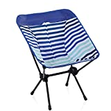 ALPHA CAMP Kids Camping Chair Portable Ultralight Compact Folding Camping Backpack Chair with Carry Bag Heavy Duty 225lb Capacity Compact Lightweight Chair for The Outdoors, Camping, Hiking, Blue