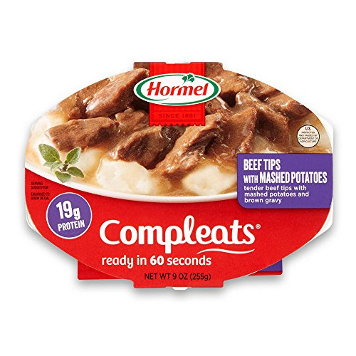 Hormel Compleats Beef Rib Tips with Mashed Potatoes and Gravy, 9 Ounce (Pack of 6)