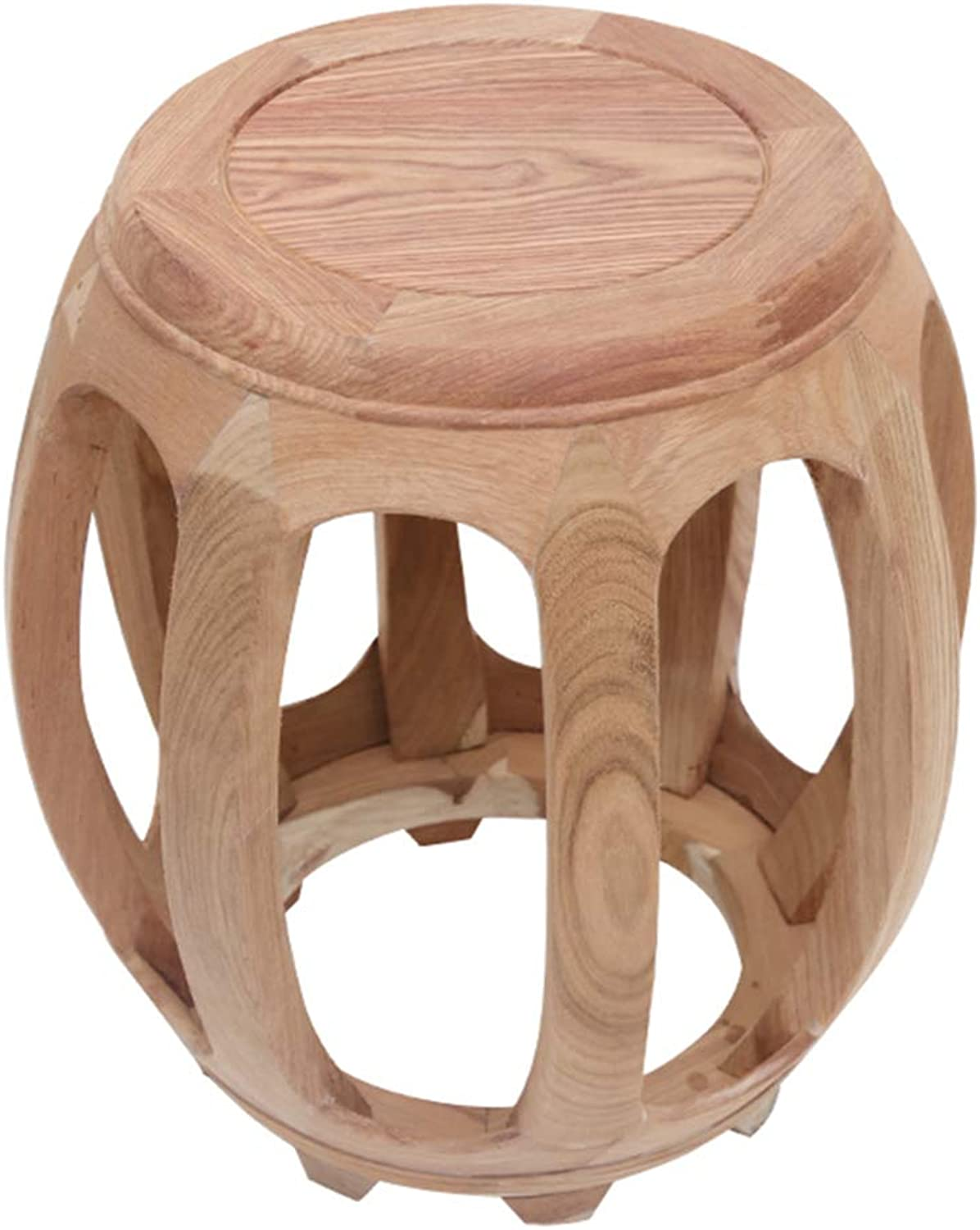 Stool Simple and Elegant Carved Table Stool pinkwood Small Stool Home Sofa Stool Wood color WEIYV (color   Wood-color, Size   41.5  44cm)
