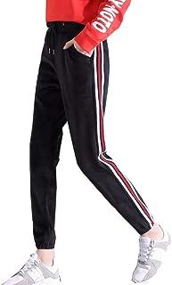[SEYIXU]レディース ベルベット スポーツパンツ ジャージ 裏起毛 ウエストゴム ロング丈 大きいサイズ 冬 ズボン