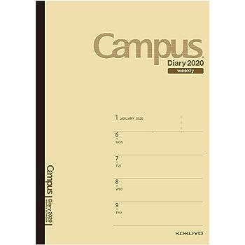 コクヨ キャンパスダイアリー 手帳 2020年 B5 ウィークリー 薄茶 ニ-CWHS-B5-20 2020年 1月始まり
