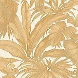 Carta da parati tnt (tessuto non tessuto) tropicale giungla jungle Beige Argento 962404 96240-4 Versace Versace 2 | Beige/Argento | Rotolo (10,05 x 0,70 m) = 7,04 m²