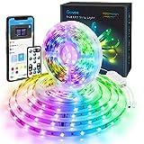 Govee 10M RGB LED Streifen Lichtband mit 3 in 1 App, Fernbedienung und Steuerbox, Selbstklebend LED...