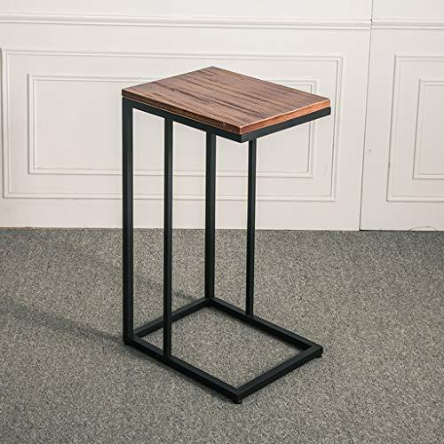 Kleine salontafel woonkamer bijzettafel salontafel salontafel salontafel C-tafel met houten afwerking en stalen constructie