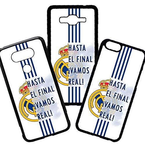 Tuscaprichosonline Carcasas De Moviles Fundas De TPU Compatible con El Modelo de Movil iPhone 5s Fútbol Frases hasta el Final ¡Vamos Real! Real Madrid Escudo
