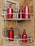 Vdomus Strong Shower Caddy 2 Tier Bathroom Corner Shelf Organizer Polished Chrome No Drilling Needed...
