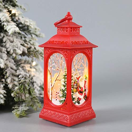 ZASUN 2PCS Christmas Decorations Night Light Led Christmas Wind Lantern PVC Material Cute Cute Santa Snowman Print Christmas Ornaments for Friends