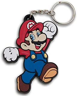 Sellena Super Mario Bros Action Figure Soft PVC Rubber Keychain Gift for kids or grown-ups