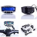pietra miliare - TOOGOO(R) LCD della bici della bicicletta cycling computer velocimetro de...