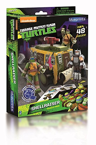 Zoofy International Teenage Mutant Ninja Turtles Paper Craft Shellraiser Vehicle Pack