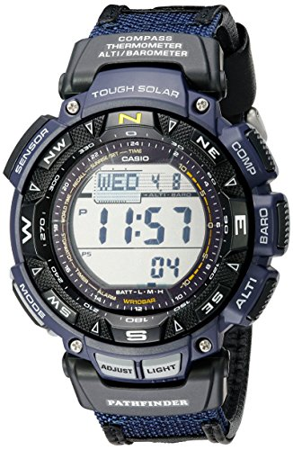 Casio Men's Pro Trek Stainless Steel Quartz Watch with Nylon Strap, Two Tone, 23 (Model: PAG240B-2CR)