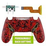 eXtremeRate Dawn Programable Remap Kit PS4 Scuf Reasignación de Botones para Playstaion 4 con Mod Chip&Carcasa Trasera&4 Botones Traseros Compatible con PS4 JDM 040/050/055(Negro)