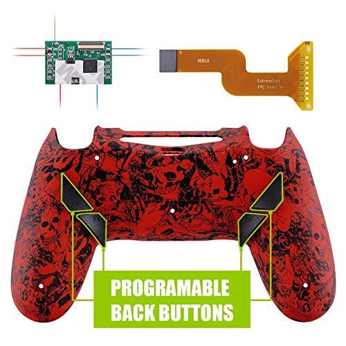 eXtremeRate Dawn Programmierbares Remap Kit für PS4 Controller mit Upgrade-Board, neu gestalteter Rückseite Hülle Case und 4 Rückseiten Tasten-für Playstation 4 JDM 040/050/055(Dämonen und Monster)