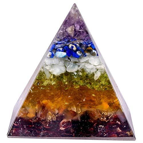 ZTTT Steinpyramide Kiessteine Harz Spirituelle Schmuck Wohnkultur Harz (Color : B)