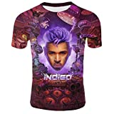 Chris Brown Indigo 3XL Men's 3D Pattern Printed T-Shirts Mens Graphics Tee Tops