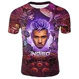 Chris Brown Indigo XXL Men's 3D Pattern Printed T-Shirts Mens Graphics Tee Tops