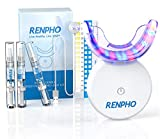 Teeth Whitening Kit with Led Light, RENPHO 32LED Accelerator Light Teeth Whitening Kit for Sensitive Teeth Whitener, 3X4ml Non-Sensitive Gels, 35% Carbamide Peroxide, Mouth Tray, Built-in Battery