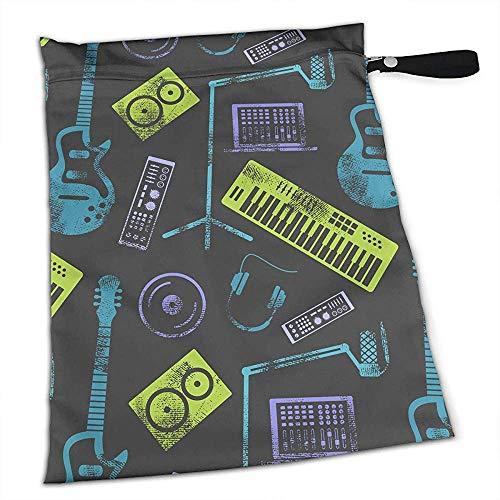 Tas Speaker Laptop Hoofdtelefoon Microfoon Herbruikbare Waterdichte Baby Luier Natte Tassen met Rits - Multifunctionele Tas voor Badpak Of Natte Kleding
