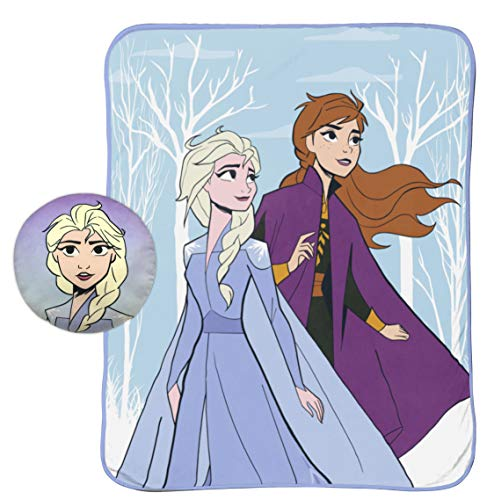 Jay Franco - Manta (127 x 152 cm), diseño de Frozen, Kids Super Soft 2 Piezas (Producto Oficial)