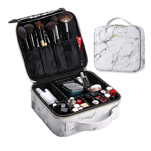 Professional Cosmetic Case Makeup Brush Organizer Makeup Artist Case with Belt Strap Holder Multi