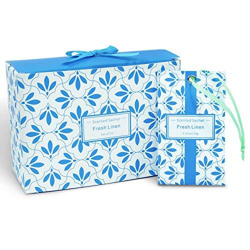 LA BELLEFÉE Duftsäckchen Frisches Leinen duftende Sachets Duftkissen Taschen für Schubladen Schränke und Autos, 14 Stück für Geschenk
