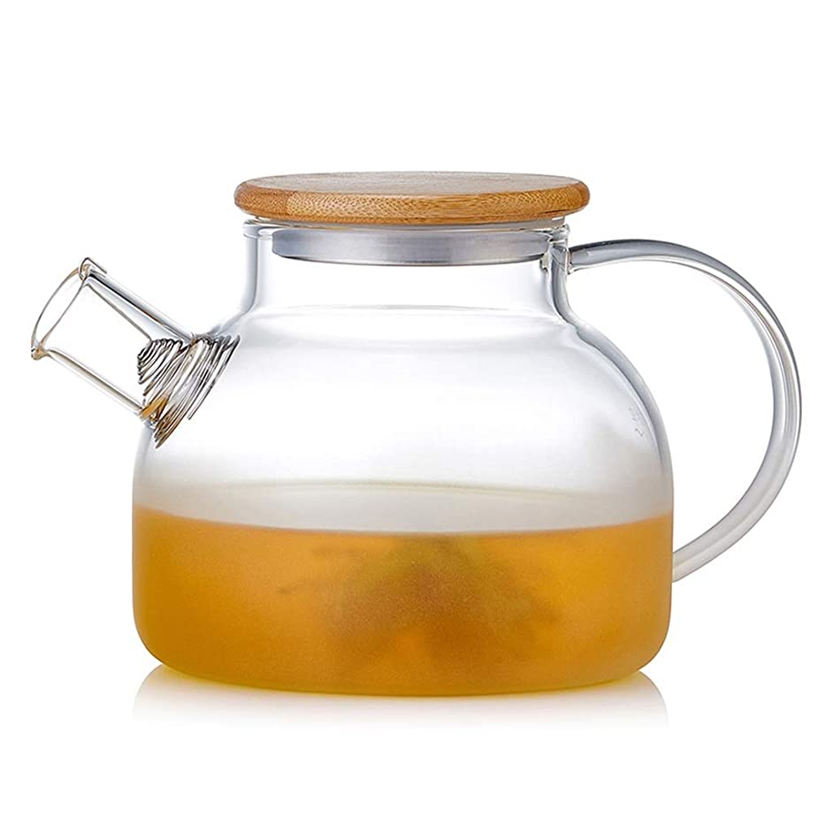 Teapots Coffee Servers Teapot Glass Teapot Household Large Capacity Filterable Glass Teapot Removable High Temperature Teapot Ice Coffee Maker (Color : Semi-matte, Size : 1000ml)