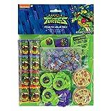 amscan- Favor Pack with Teenage Theme-48 Pcs. Turtles Paquete de Recuerdos con Tema de tortugas Ninja Mutantes Adolescentes-48 Piezas, Color (11011945)