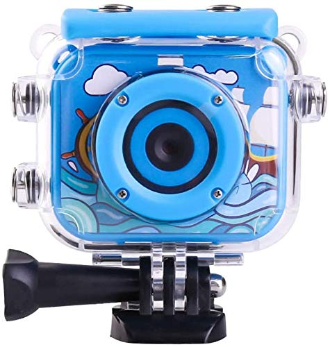 Action-Kamera Durable 1080P wasserdichter Anti Fall der Kinder Sport Vlog DV-Kamera Live-HD-Streaming (Farbe: Blau, Größe: Eine Größe) zhihao (Color : Blue, Size : One Size)