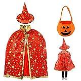 fenihooy Costume d'Halloween pour enfants, Cape du Magicien d'Halloween Chapeau de...