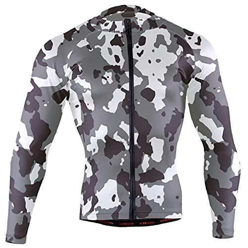 Magnesis Militar camuflaje patrón de estampado (12) hombres Ciclismo Jersey manga larga bicicleta chaqueta ciclismo bicicleta Jersey camisa