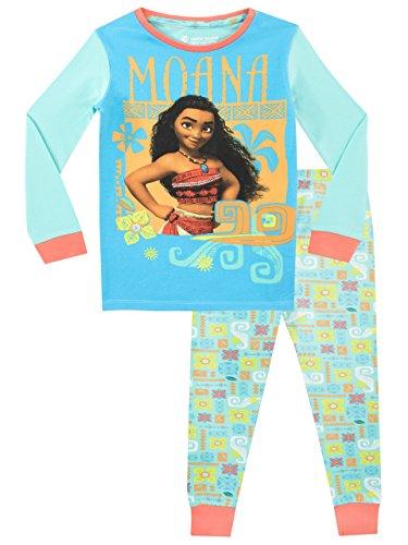 Disney Mädchen Moana Schlafanzug Slim Fit Mehrfarbig 128
