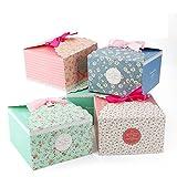 VEESUN Geschenkbox 16 STK Bunt Kästchen Geschenkschachtel in 4 Farbe, Pralinenschachtel Geschenkverpackung Überraschungsboxen für Kuchen Kekse, Kindergeburtstag Gastgeschenke Tüten,...