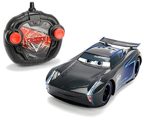 Dickie Toys RC Cars 3 Turbo Racer Jackson Storm, zdalnie sterowany samochód, 2-kanałowy FS, funkcja turbo, 17 cm