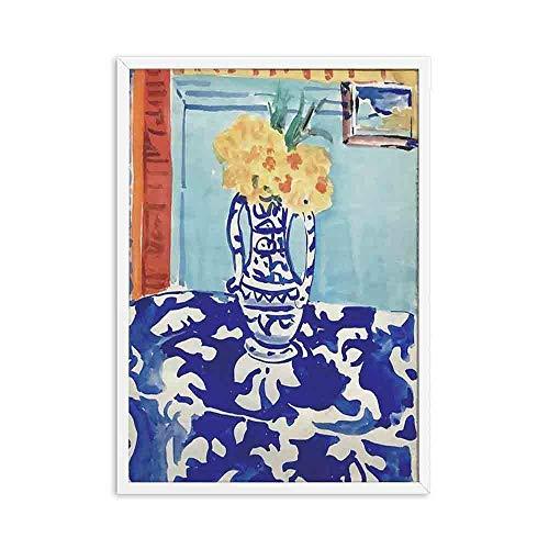 Arte de pared de paisaje abstracto impresiones Matisse póster Retro imagen muebles para el hogar pintura decorativa sin marco F 20x30cm