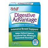 Intensive Bowel Support Probiotic Supplement - Digestive Advantage 32 Capsules, defends against gas, bloating, abdominal discomfort, Survives 100x Better