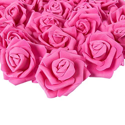 Juvale Rose Flores Cabezales – 100 Unidades Rosas Artificiales, deco