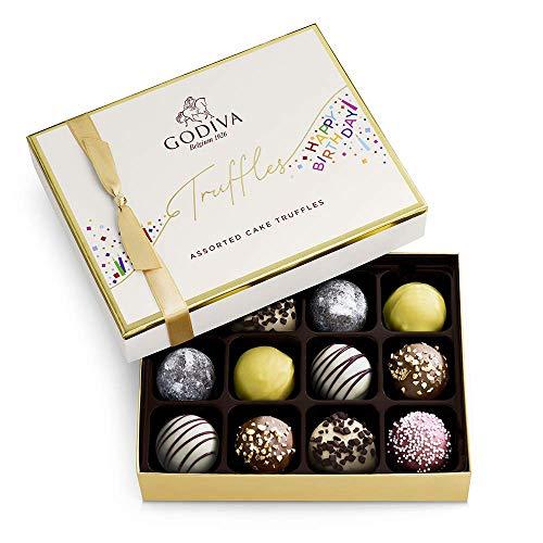 Godiva Chocolatier Birthday Truffles Assorted Chocolate Gift Box, 12-Ct.