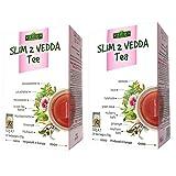 Vedda Slim 2 Tee (neue Verpackung) Original Formula, Abnehmen Abnehm Entgiftung Fatburner Gewichtsverlust Diät Detox Reinigung Tee, Grüner Lotus Sennes Teeblätter und Ginseng, 40 Teetassen, 100g