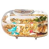 XLSQW Mini pecera de Cristal en Miniatura del Paisaje Fish Tank Mini decoración Miniatura pez Betta Fish Tank de Escritorio, para para la decoración casera (2 Fish Bowl)