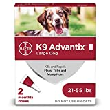 K9 Advantix II Flea and Tick Prevention for Large Dogs 2-Pack, 21-55...