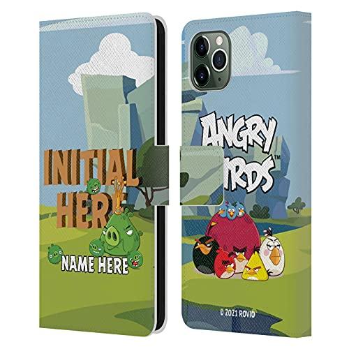 Head Hülle Designs Offiziell Zugelassen Personalisierte Persönliche Angry Bird Holzbrief Kunst Leder Brieftaschen Handyhülle Hülle Huelle kompatibel mit Apple iPhone 11 Pro Max