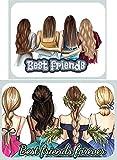 Best Sisters/Best Friends - Decoración comestible para tartas (patrón 5)
