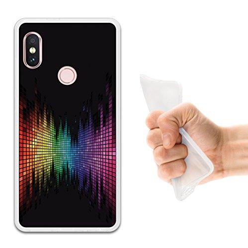 WoowCase Funda Xiaomi Redmi Note 5 Pro, [Xiaomi Redmi Note 5 Pro ] Funda Silicona Gel Flexible Arco Iris Efecto Ecualizador, Carcasa Case TPU Silicona - Transparente