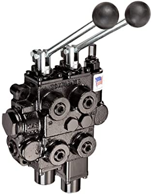 """Prince RD522GCGA5A4B1 Directional Control Valve, Two Spool, 4 Way, 4 Position, Tandem Center, Float Spool, Cast Iron, 3000 psi, Lever Handle, 25 gpm, In/Out: 3/4"""" NPTF, Work 1/2"""" NPTF by Prince"""