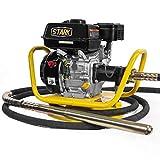 Stark 6.5HP Gas Power Concrete Vibrator 360 Swivel Base Construction Vibrator Loncin Motor Flexible Vibrator Poker, Yellow